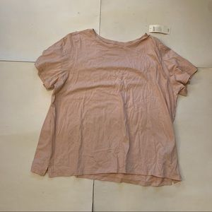NWT Eileen Fisher Pink Striped Roundneck Tee